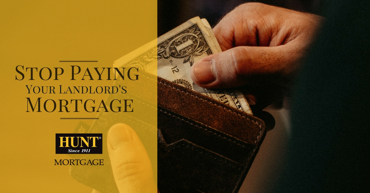 Mortgage Blog Title, Stop Paying Your Landlord's Mortgage, Image Of Wallet With Dollar Bills Being Removed