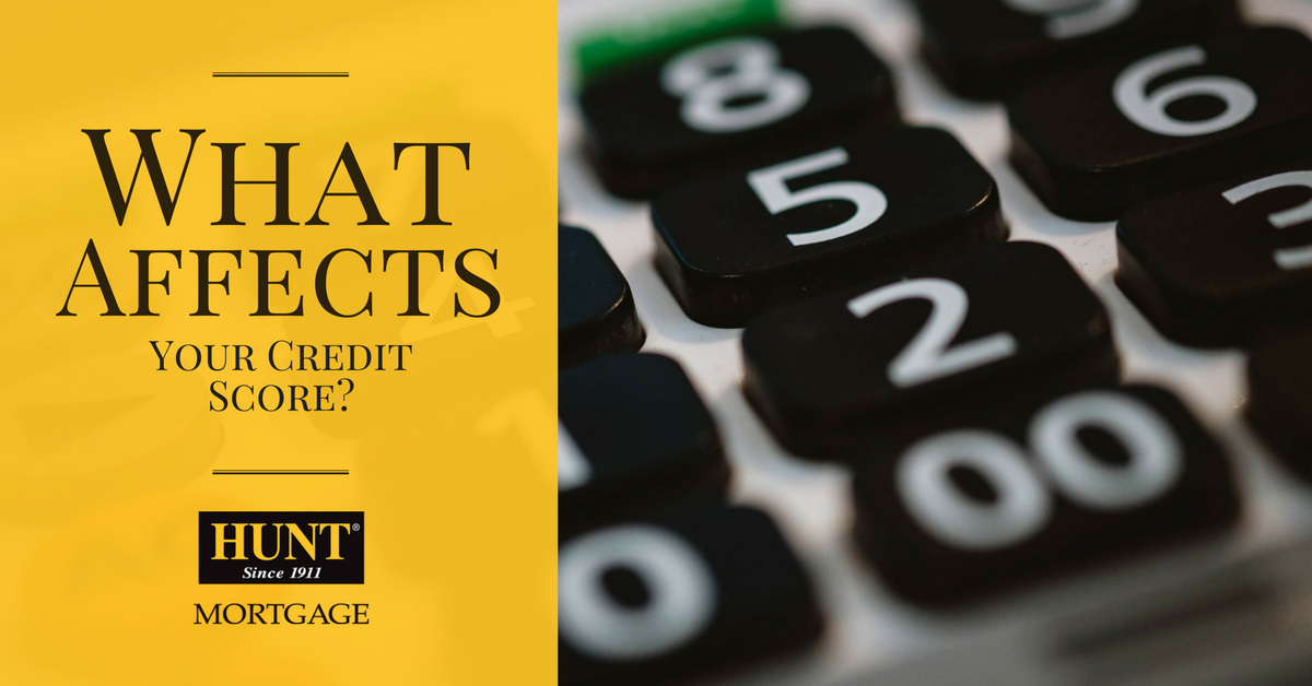 What Affects Your Credit Score? Blog Header With Calculator In Background.