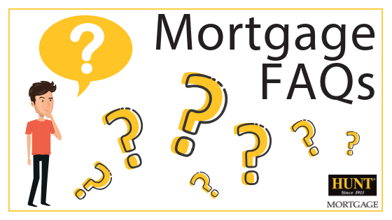 Man With Question Marks And Blog Title Mortgage FAQs